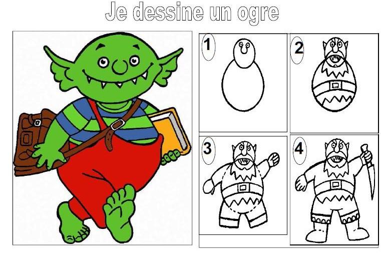 Le Petit Ogre Veut Aller A L Ecole Le Partage C Est Classe Maternelle