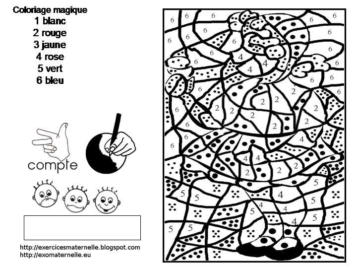Loup le partage c 39 est classe maternelle - Coloriage magique loup ...